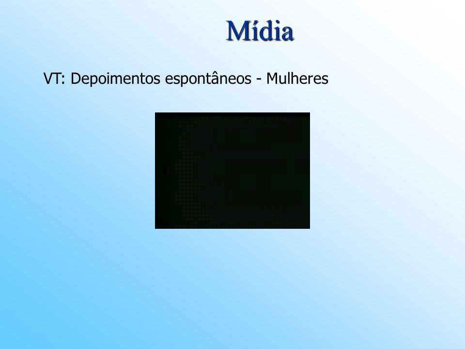 Mídia VT: Depoimentos espontâneos - Mulheres