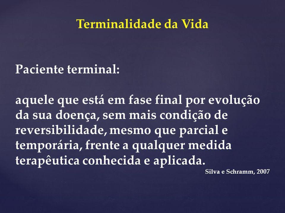 Terminalidade da Vida Paciente terminal: