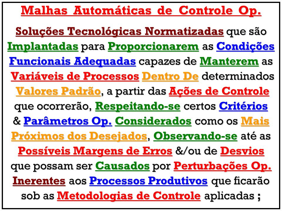 Malhas Automáticas de Controle Op.