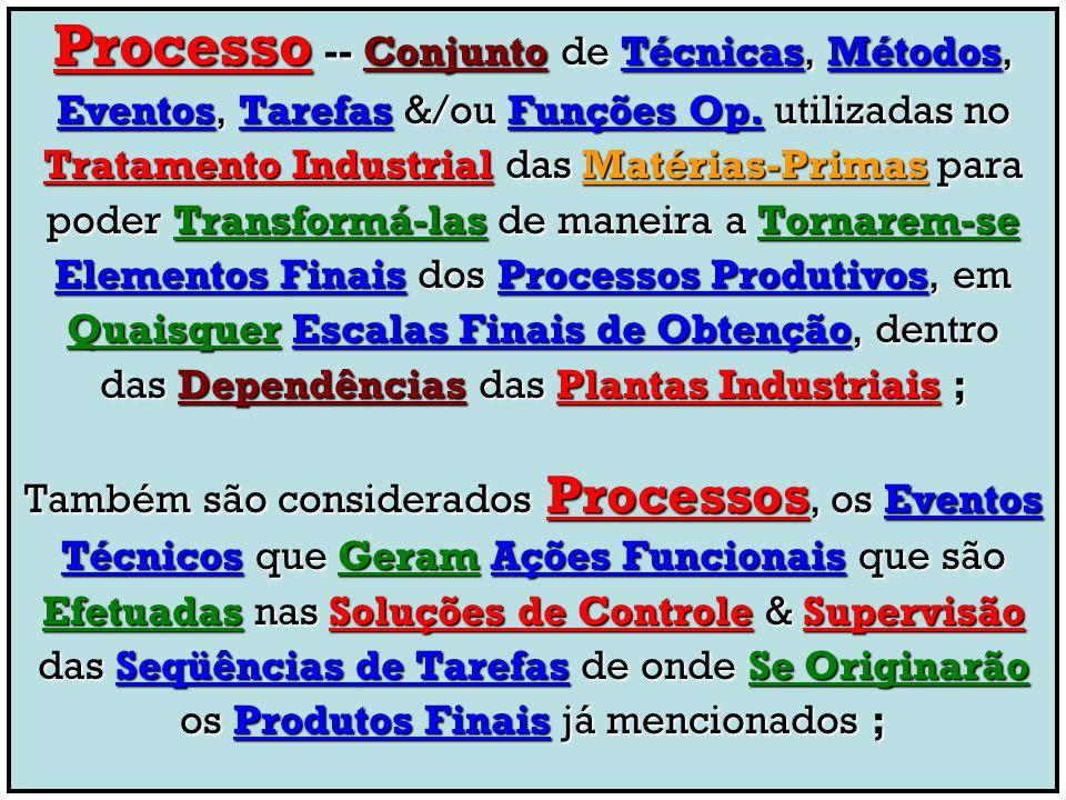 Processo -- Conjunto de Técnicas, Métodos,