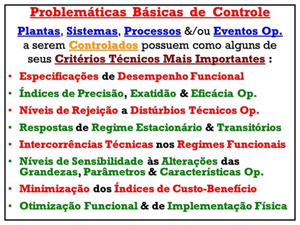 Problemáticas Básicas de Controle