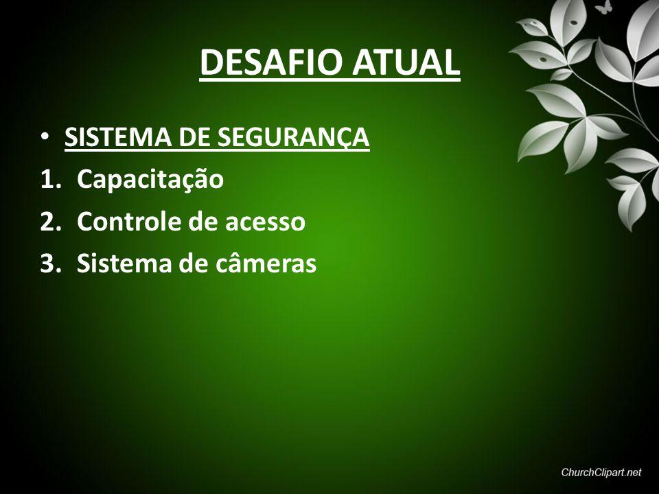 DESAFIO ATUAL SISTEMA DE SEGURANÇA Capacitação Controle de acesso