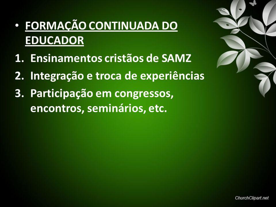 FORMAÇÃO CONTINUADA DO EDUCADOR