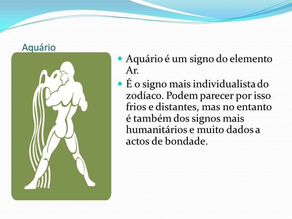 Aquário Aquário é um signo do elemento Ar.