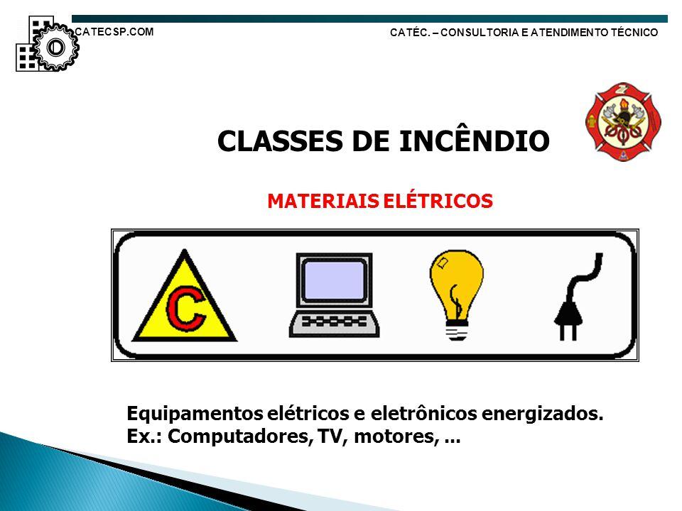 CLASSES DE INCÊNDIO MATERIAIS ELÉTRICOS