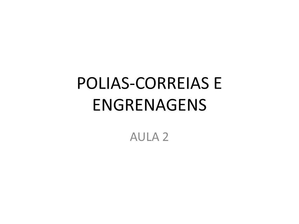 POLIAS-CORREIAS E ENGRENAGENS