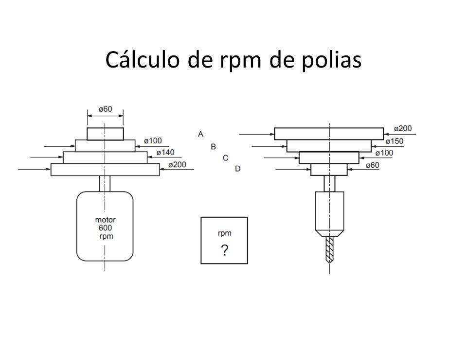 Cálculo de rpm de polias