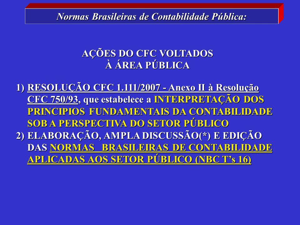 Normas Brasileiras de Contabilidade Pública: