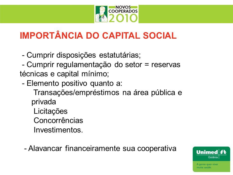 IMPORTÂNCIA DO CAPITAL SOCIAL