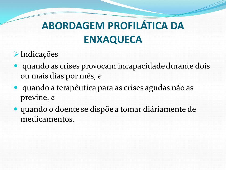 ABORDAGEM PROFILÁTICA DA ENXAQUECA
