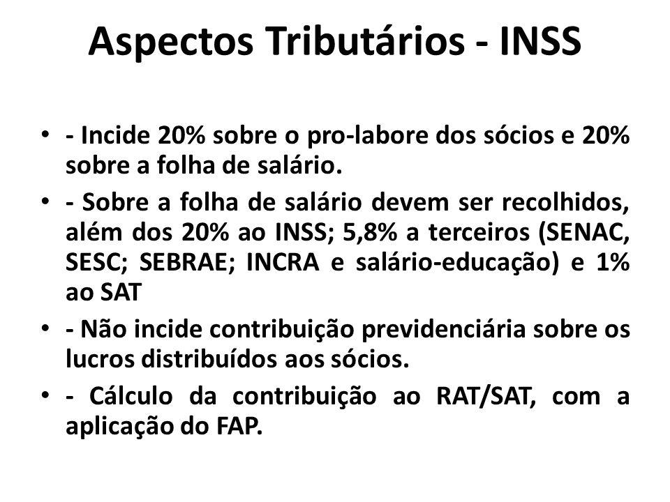 Aspectos Tributários - INSS