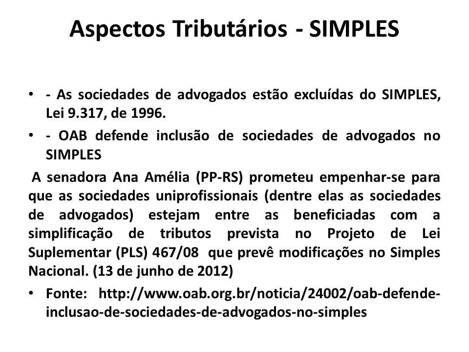 Aspectos Tributários - SIMPLES