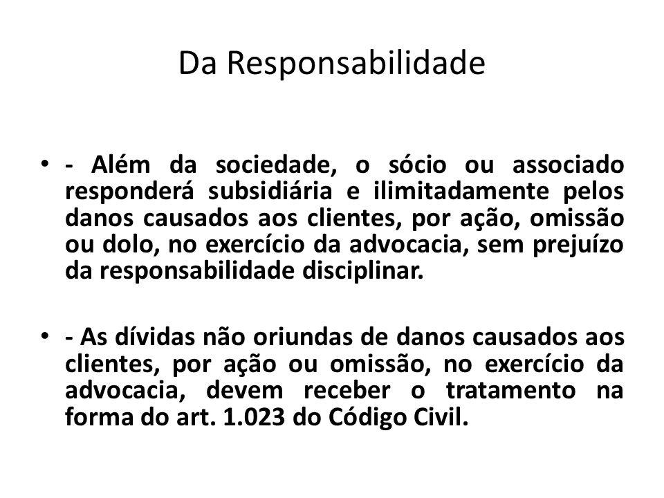 Da Responsabilidade
