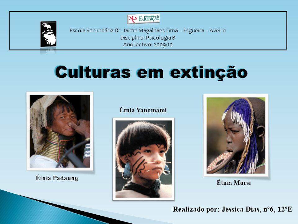 Culturas em extinção Realizado por: Jéssica Dias, nº6, 12ºE