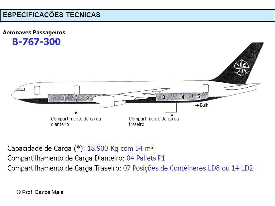 B-767-300 ESPECIFICAÇÕES TÉCNICAS