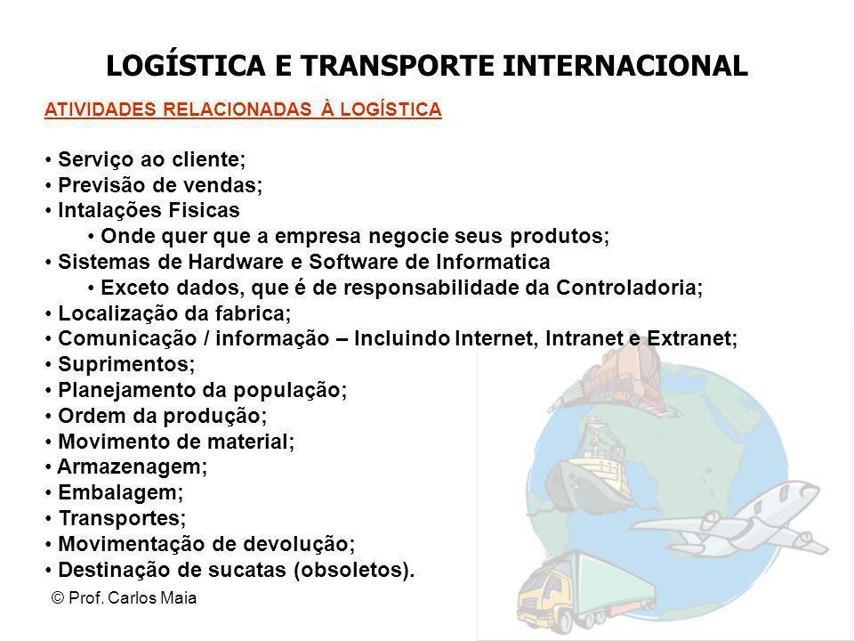 LOGÍSTICA E TRANSPORTE INTERNACIONAL