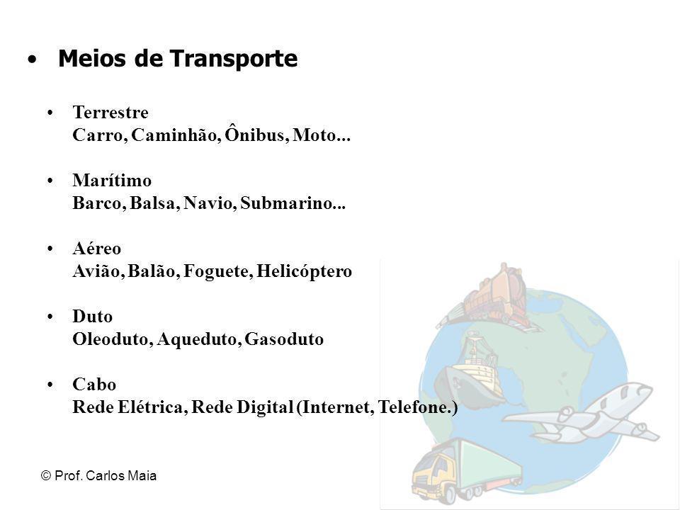 Meios de Transporte Terrestre Carro, Caminhão, Ônibus, Moto...