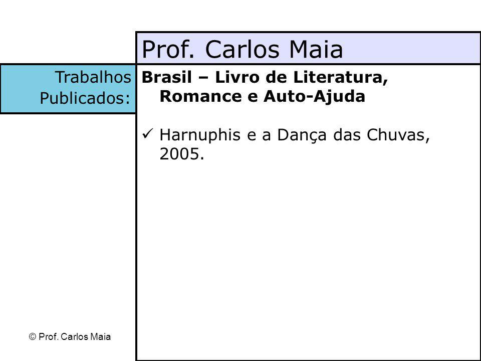 Prof. Carlos Maia Trabalhos Publicados: