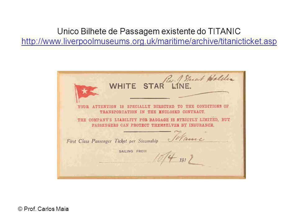 Unico Bilhete de Passagem existente do TITANIC http://www