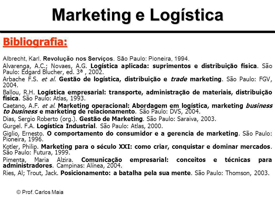 Marketing e Logística Bibliografia: