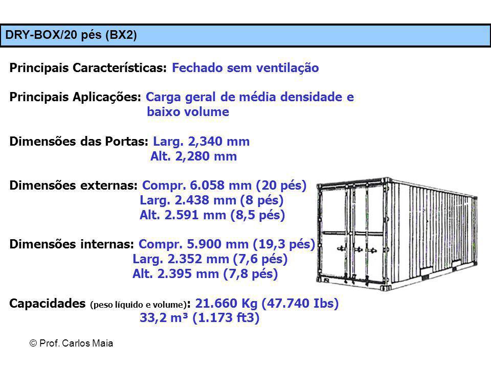 Principais Características: Fechado sem ventilação