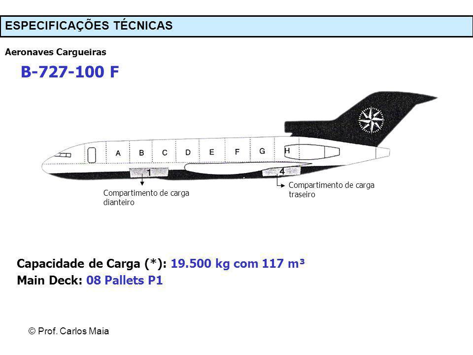 B-727-100 F ESPECIFICAÇÕES TÉCNICAS
