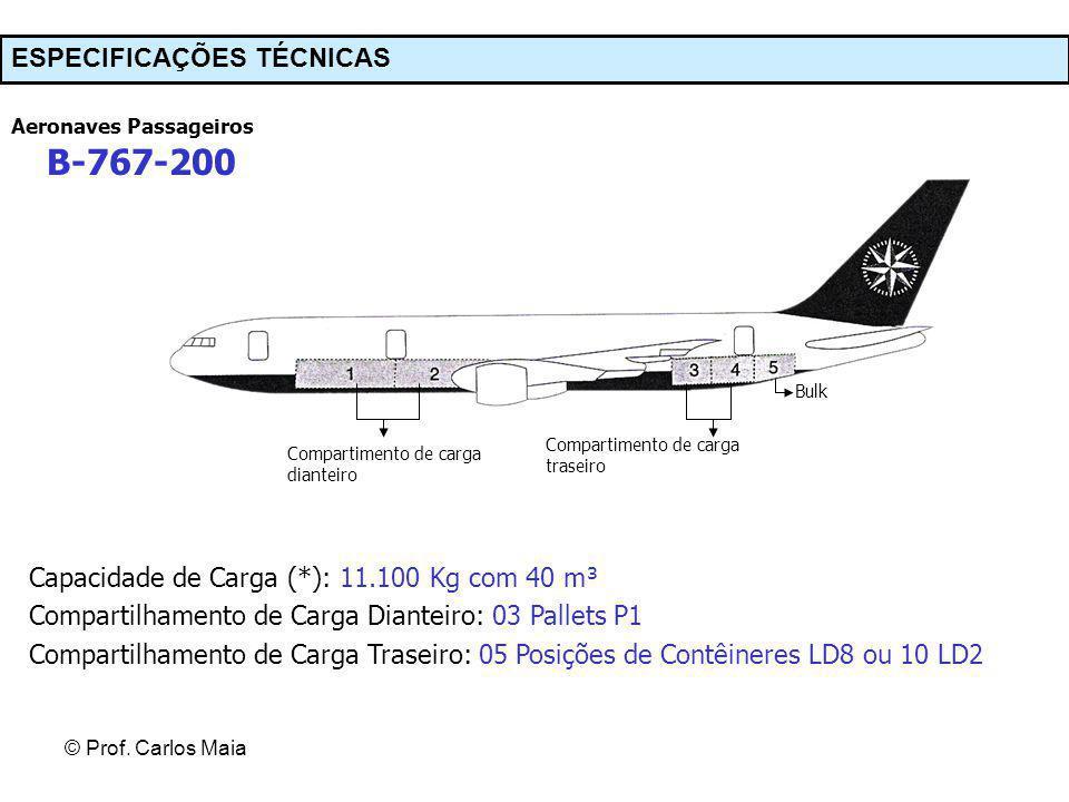 B-767-200 ESPECIFICAÇÕES TÉCNICAS