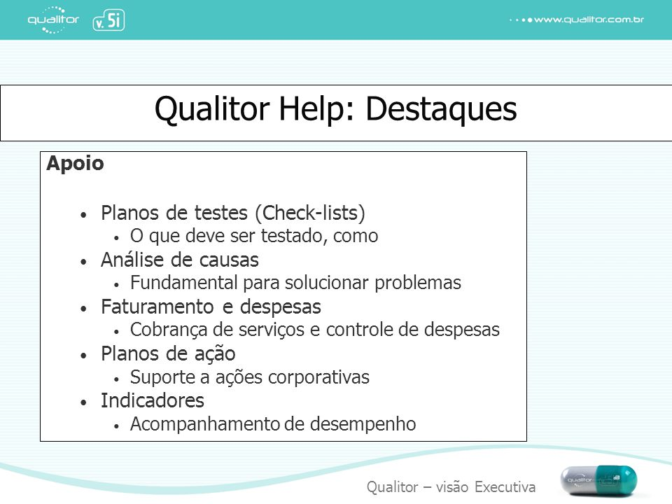 Qualitor Help: Destaques