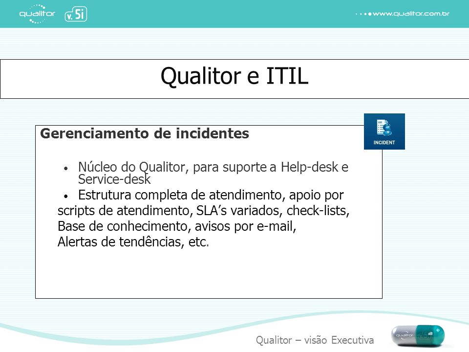 Qualitor e ITIL Gerenciamento de incidentes