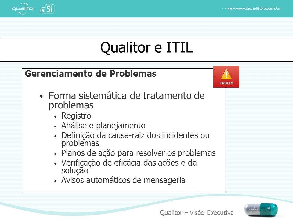 Qualitor e ITIL Forma sistemática de tratamento de problemas