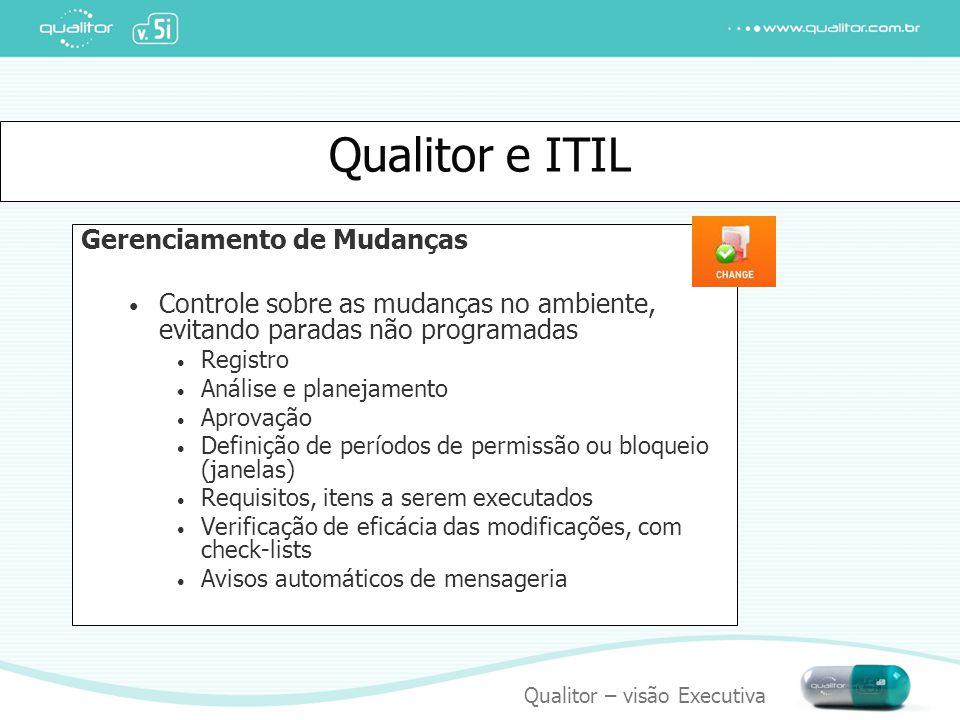 Qualitor e ITIL Gerenciamento de Mudanças