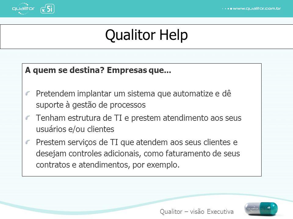 Qualitor Help A quem se destina Empresas que...