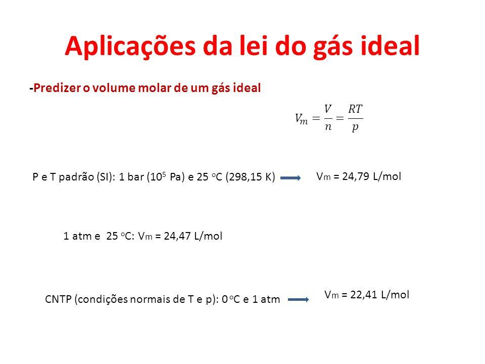 Aplicações da lei do gás ideal