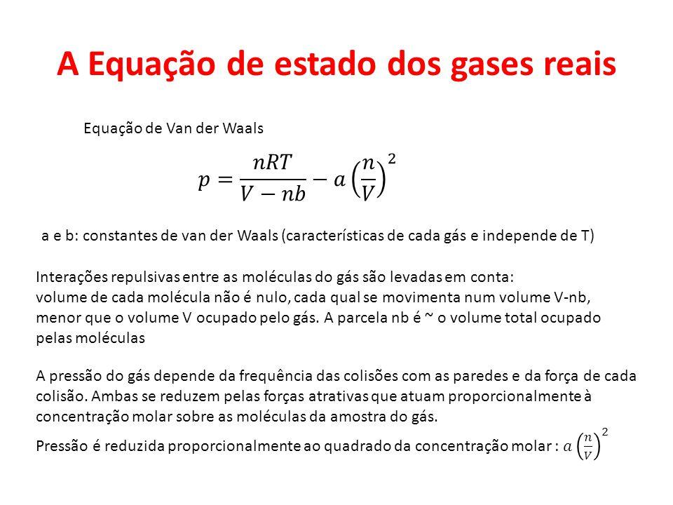 A Equação de estado dos gases reais