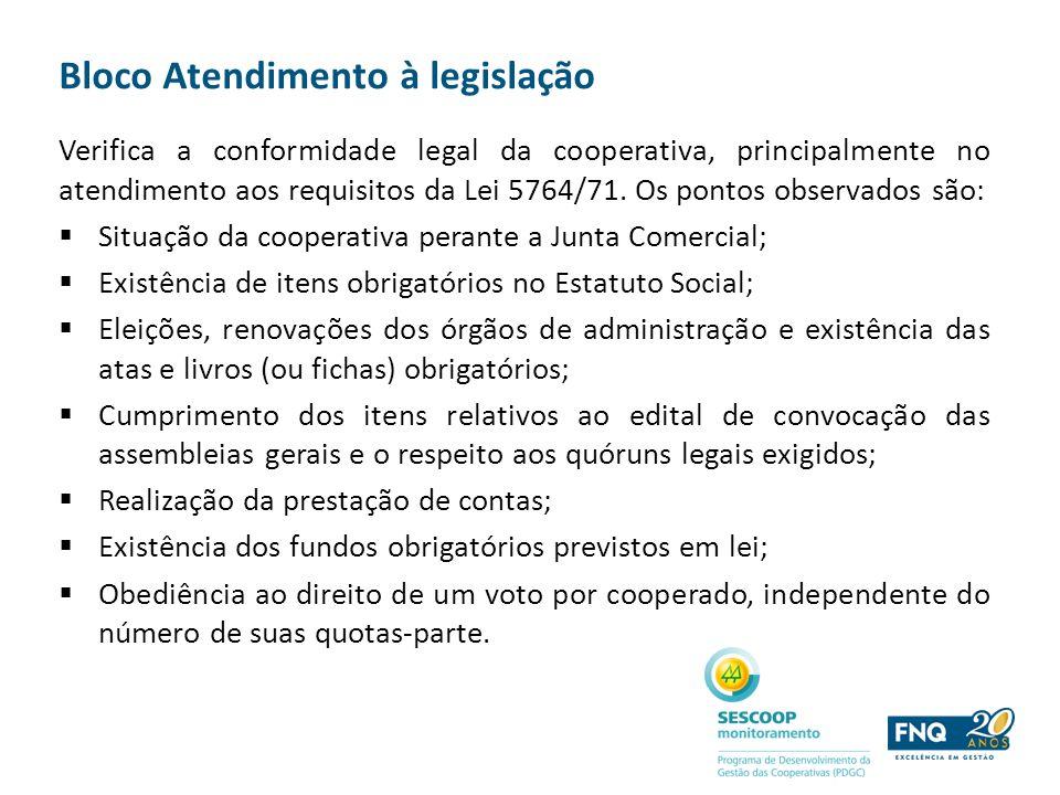 Bloco Atendimento à legislação