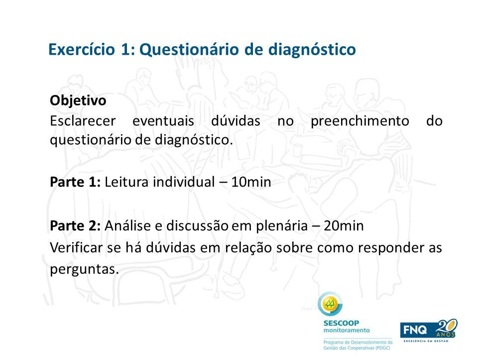 Exercício 1: Questionário de diagnóstico