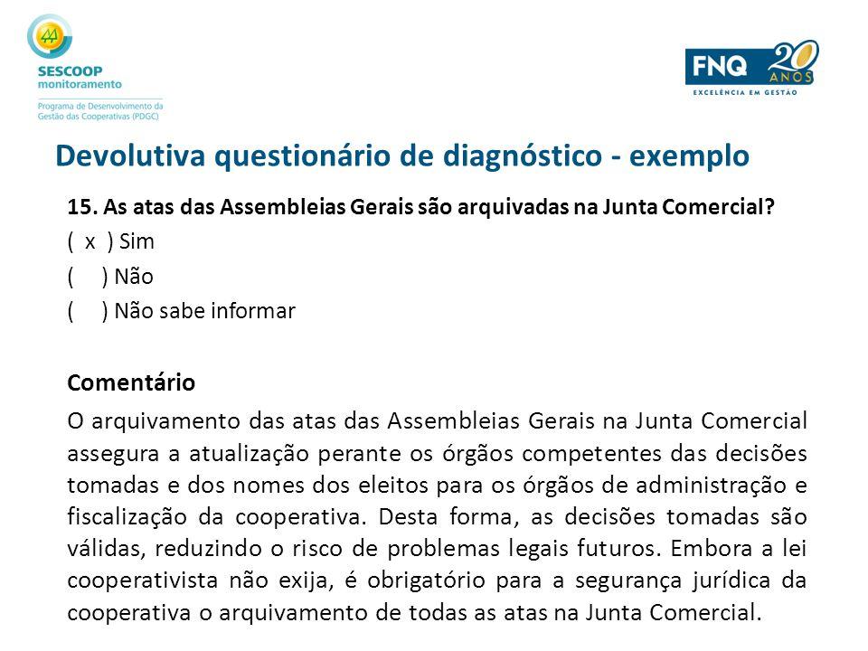 Devolutiva questionário de diagnóstico - exemplo