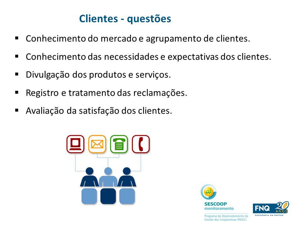 Clientes - questões Conhecimento do mercado e agrupamento de clientes.