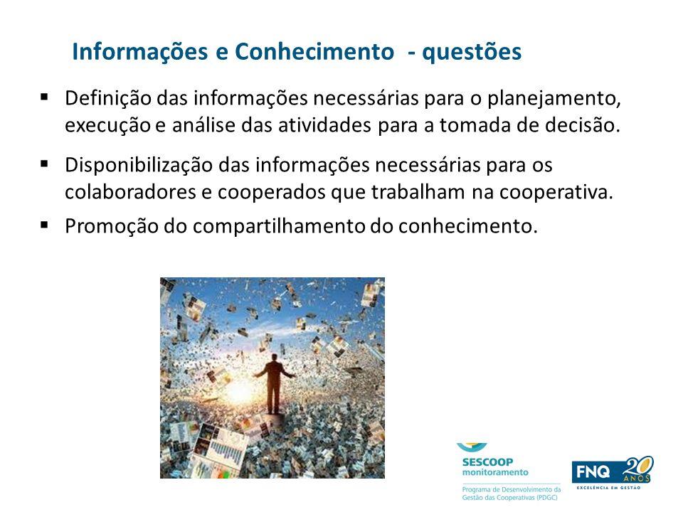 Informações e Conhecimento - questões