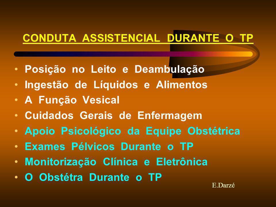 CONDUTA ASSISTENCIAL DURANTE O TP