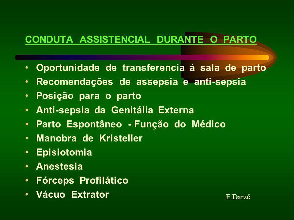 CONDUTA ASSISTENCIAL DURANTE O PARTO