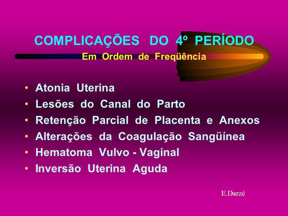 COMPLICAÇÕES DO 4º PERÍODO
