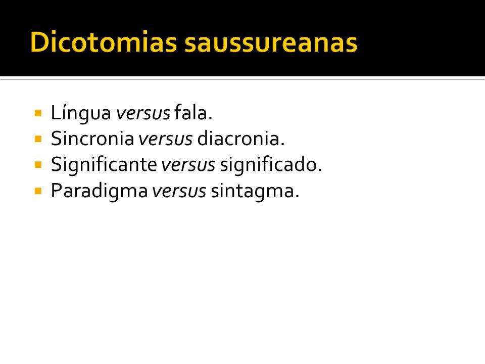 Dicotomias saussureanas