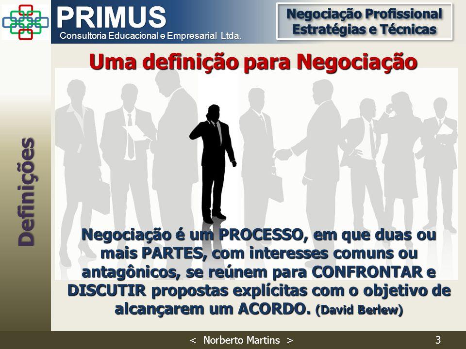 Uma definição para Negociação Definições