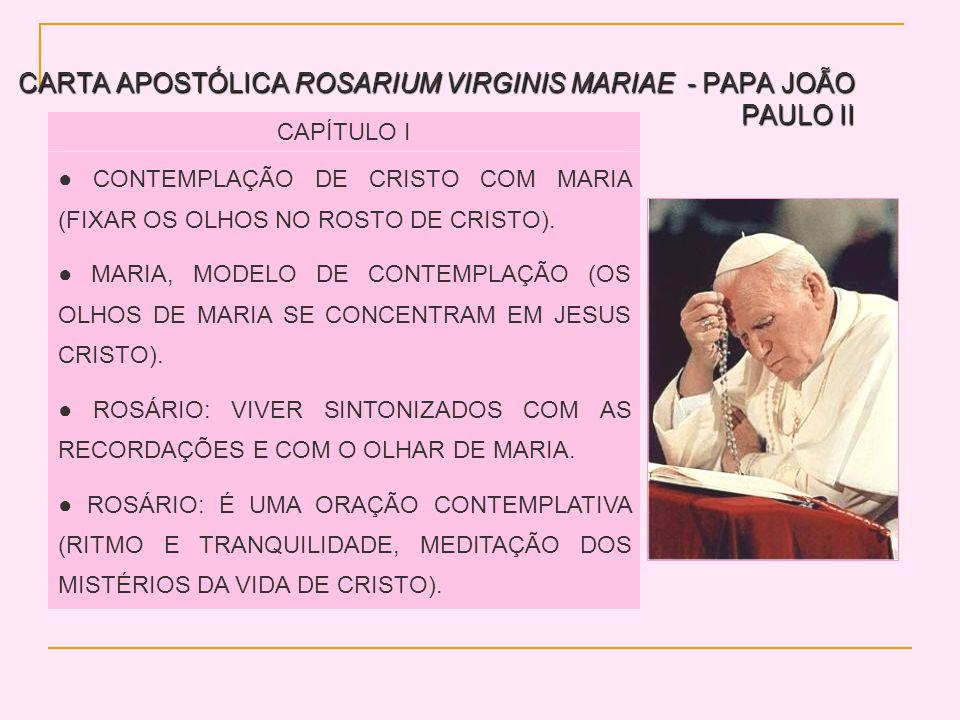 CARTA APOSTÓLICA ROSARIUM VIRGINIS MARIAE - PAPA JOÃO PAULO II