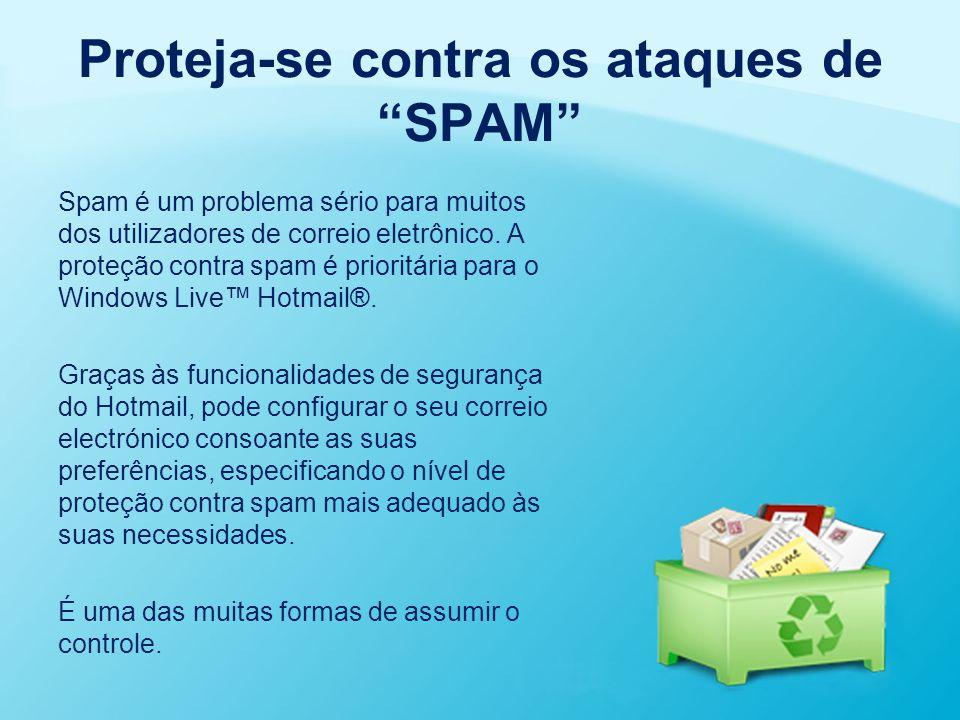 Proteja-se contra os ataques de SPAM