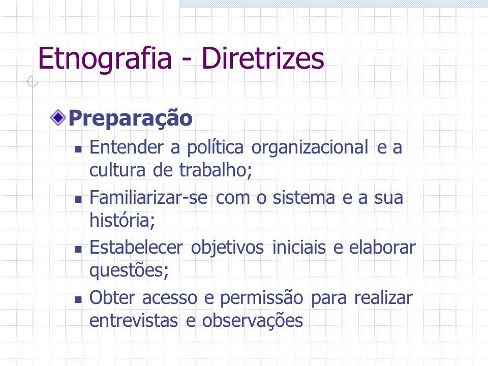 Etnografia - Diretrizes