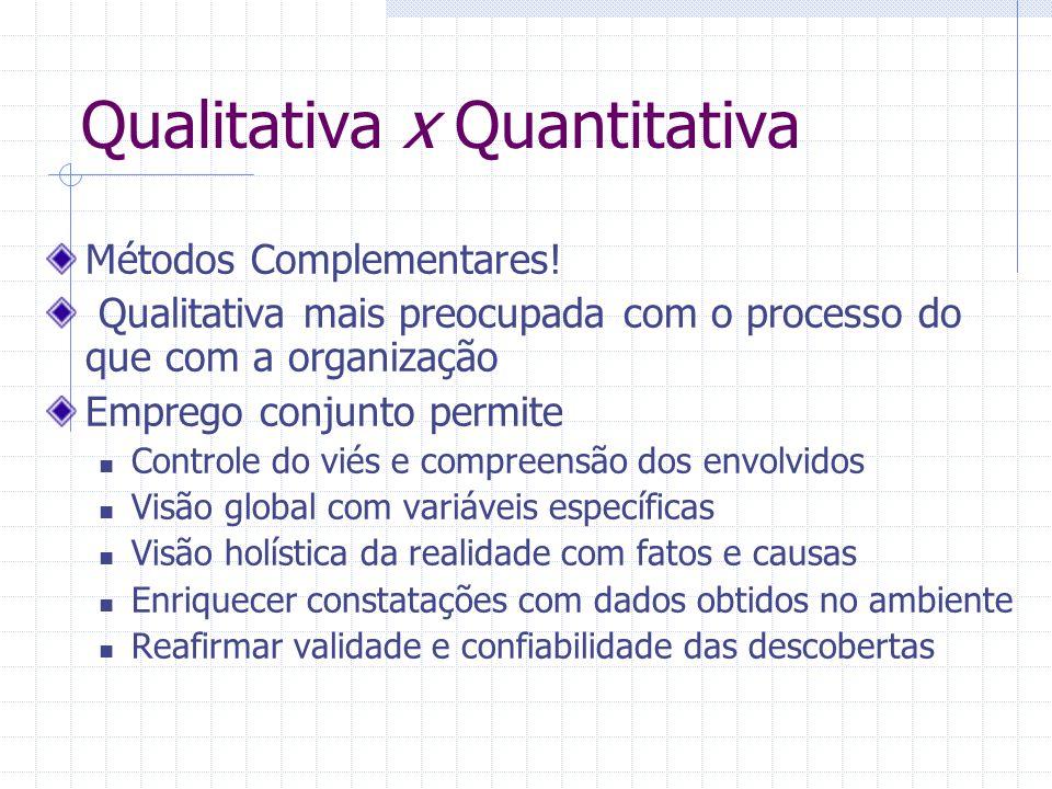 Qualitativa x Quantitativa