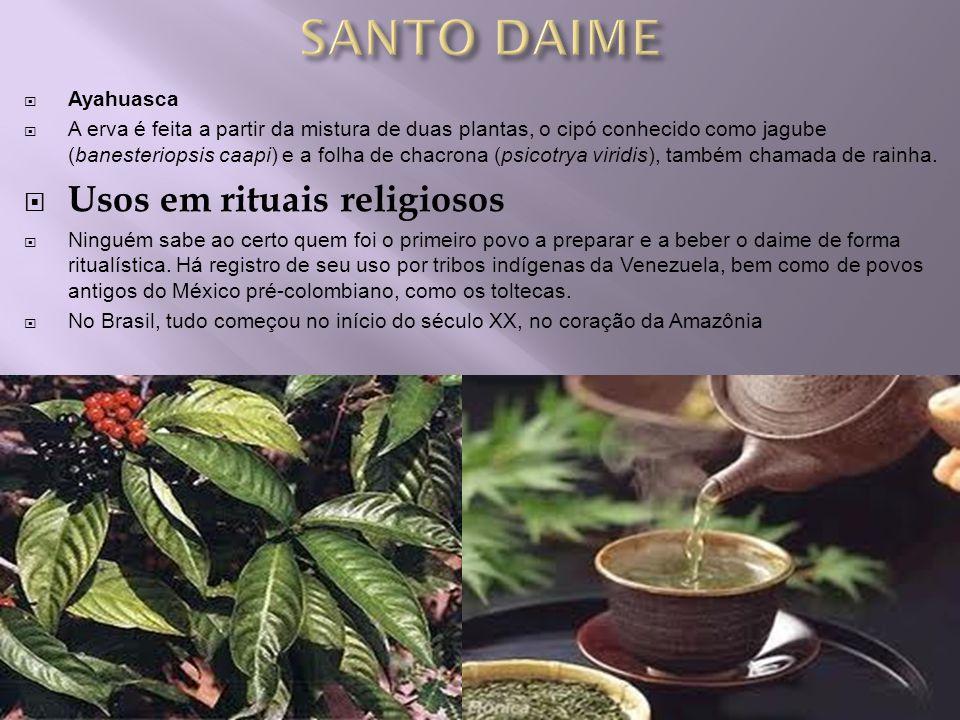 SANTO DAIME Usos em rituais religiosos Ayahuasca