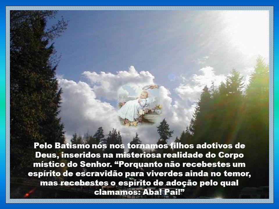 Pelo Batismo nós nos tornamos filhos adotivos de Deus, inseridos na misteriosa realidade do Corpo místico do Senhor.